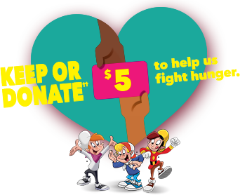 Keep or donate to help fight hunger